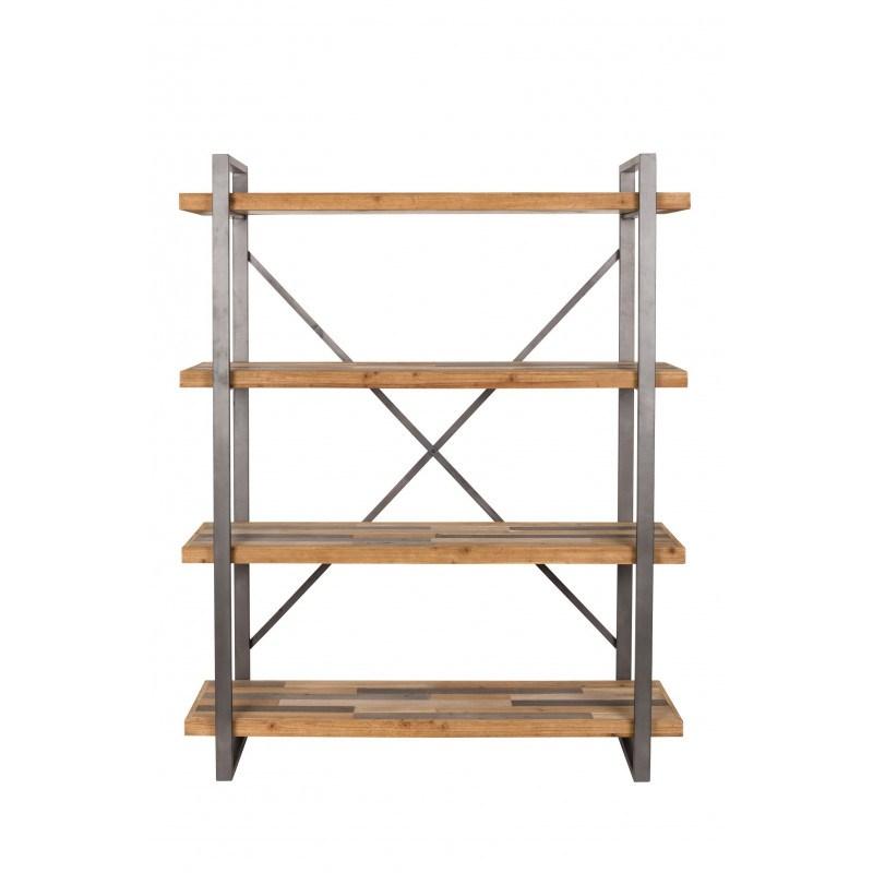etagere industrielle bois et metal joy boite a design