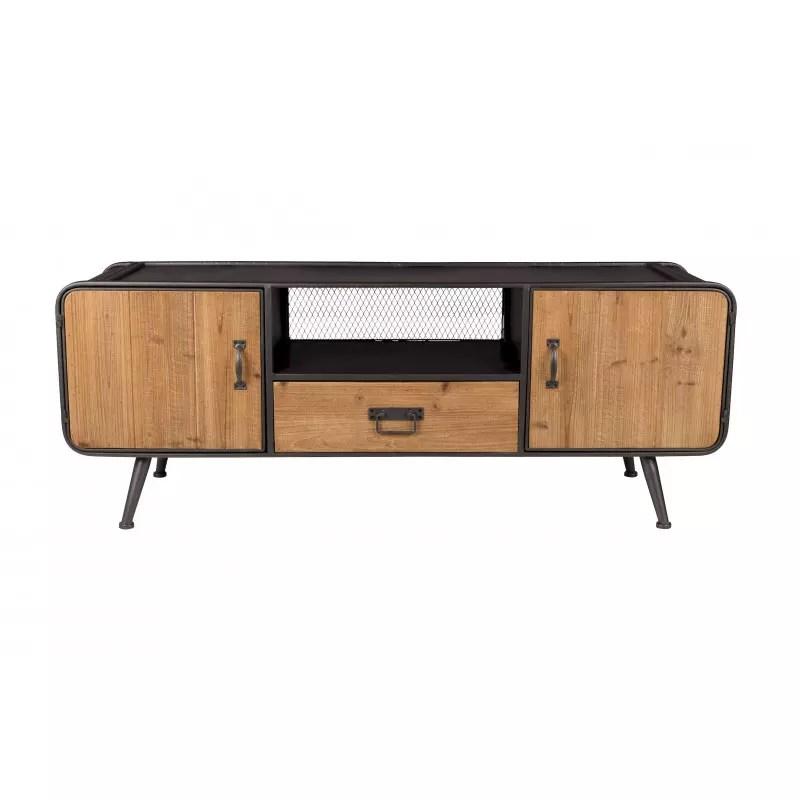 meuble tv en bois et metal style industriel gin de chez ducthbone