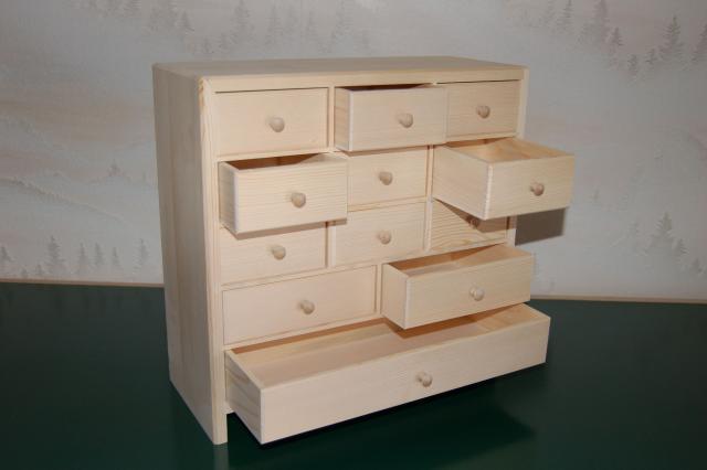 petit meuble de rangement 12 tiroirs en