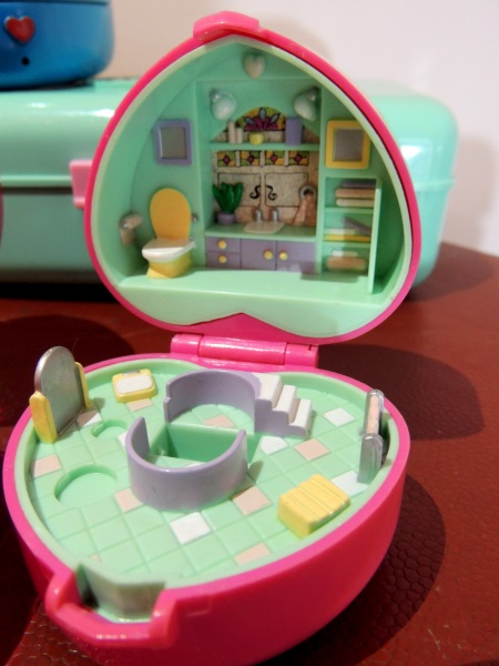 Polly Pocket salle de bain Ring Case 1991