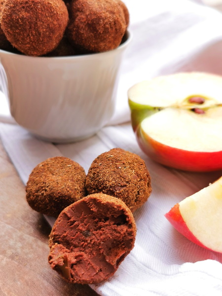 Truffes pomme cannelle