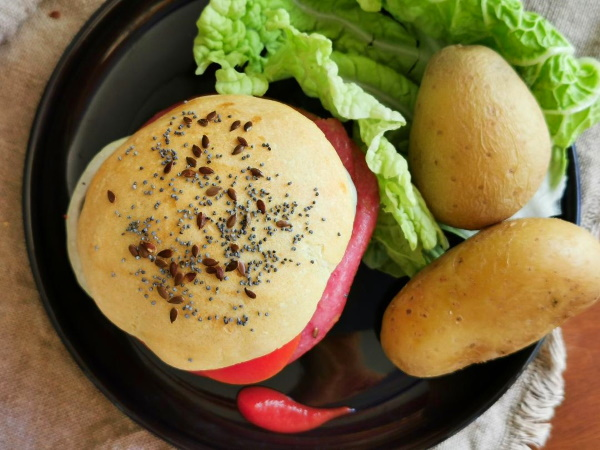 Pains burger au levain naturel