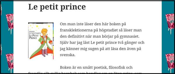 Nostalgitorsdag - Den lille prinsen