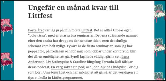 Nostalgitorsdag - Littfest