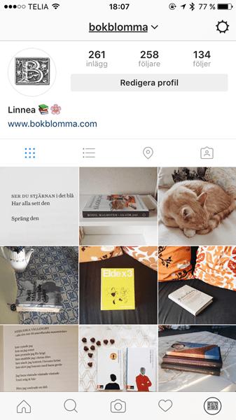 Bokblomma på Instagram