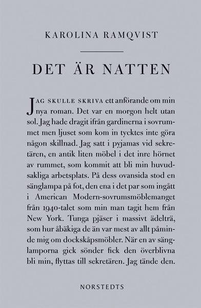 Det är natten av Karolina Ramqvist