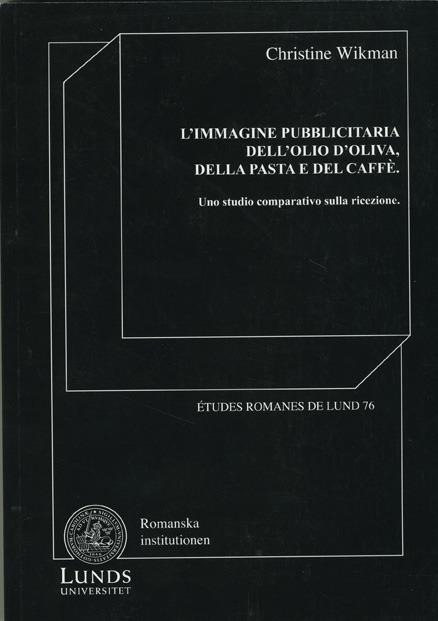 L'immagine pubblicitaria dell'olio d'oliva, della pasta e del caffè
