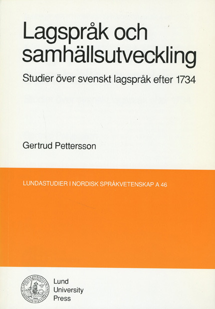 Lagspråk och samhällsutveckling