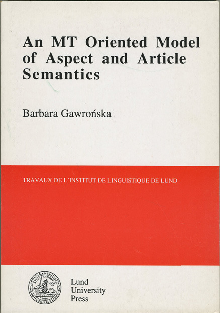 An MT oriented model of aspect and article semantics