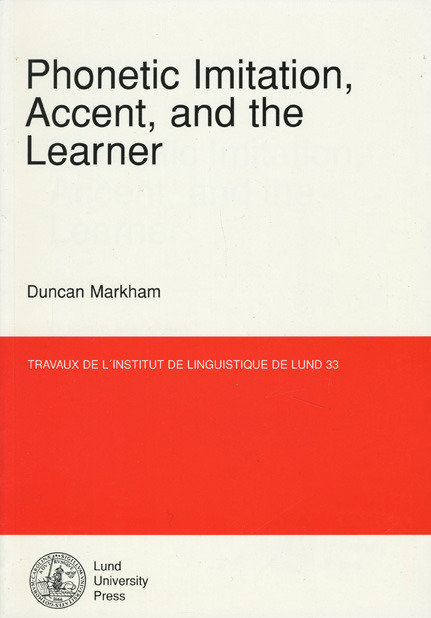 Phonetic Imitation, Accent, and the Learner
