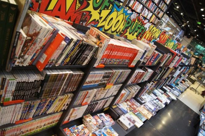 Serier, manga och ungdomslitteratur.