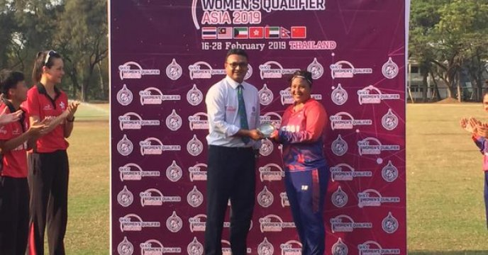Nary Thapa Player of the Match Nepal vs Hong Kong