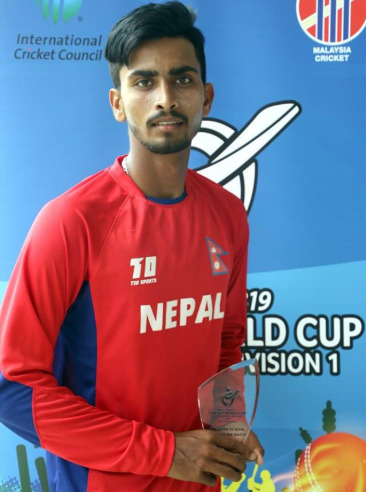 Pawan Sarraf - Man of the Match Nepal U19 Vs Malaysia U19 ICC Match