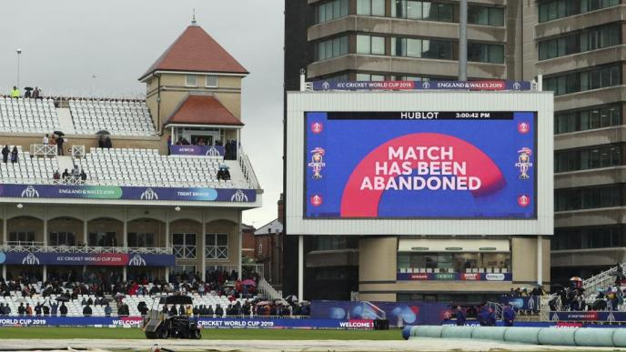 Cricket World Cup 2019 - Match Abandoned