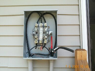 Replacement of the electrical panel