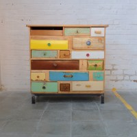 Vintage colourful drawer cabinet | Bold Design