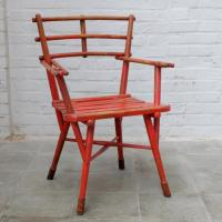 Red Wooden Thinking Chair | Bold Design