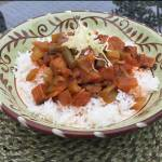 Spicy Asian stir fry recipe with bloody mary mix