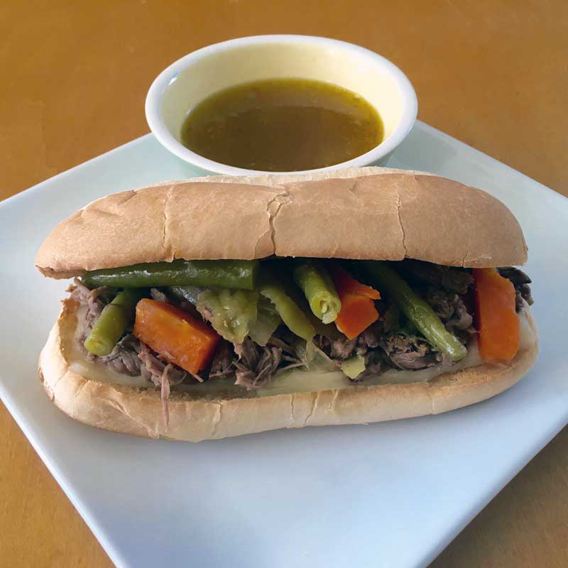 Italian beef sandwich with Bolder MixUp