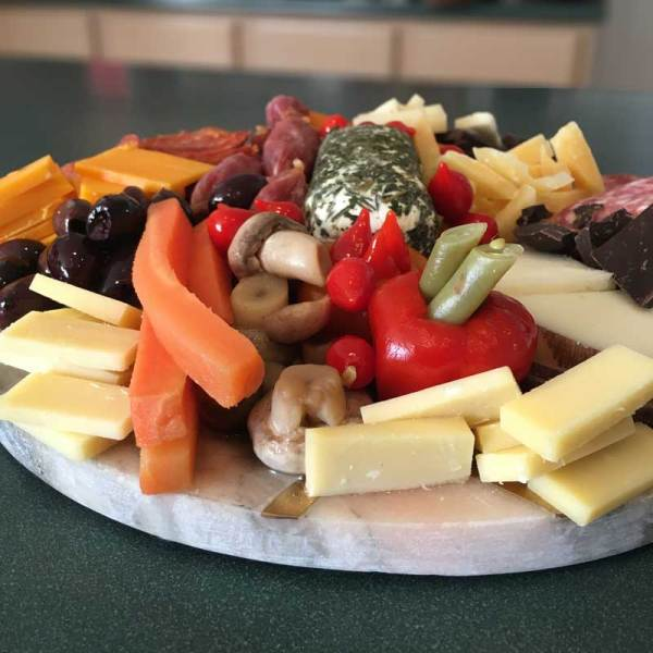 Photo of a Charcuterie Board with Bolder Mixup pickled veggies
