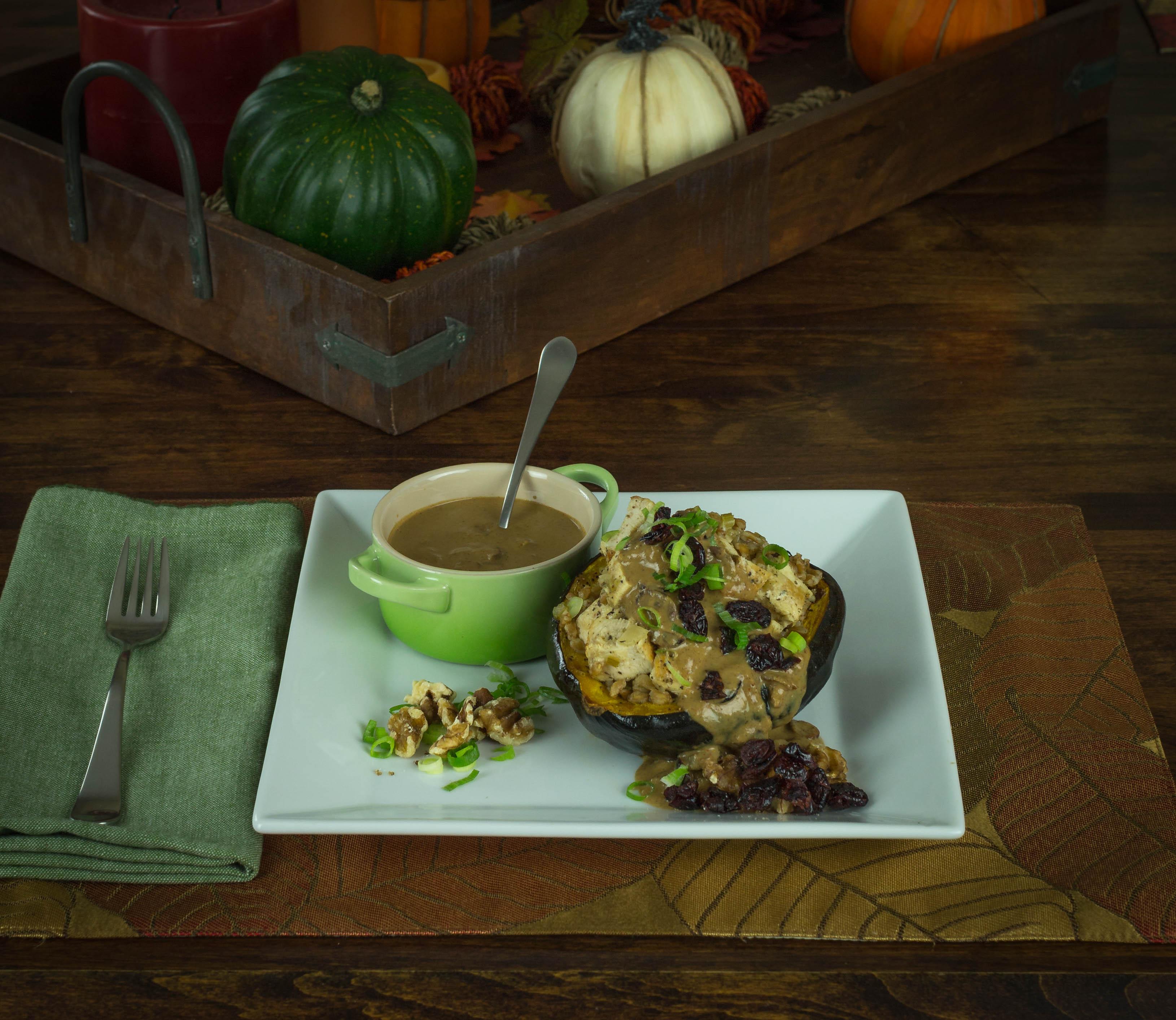 Thanksgiving Stuffed Acorn Squash