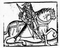 This woodcut has been used to illustrate both the Gest and the yeoman of Chaucer's Canterbury Tales