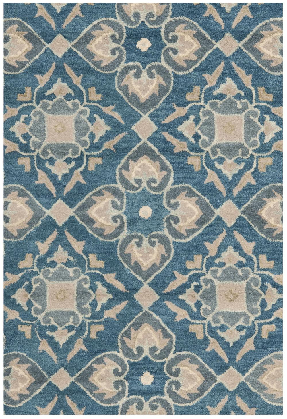 Safavieh Wyndham WYD614A Blue and Grey Area Rug  Free