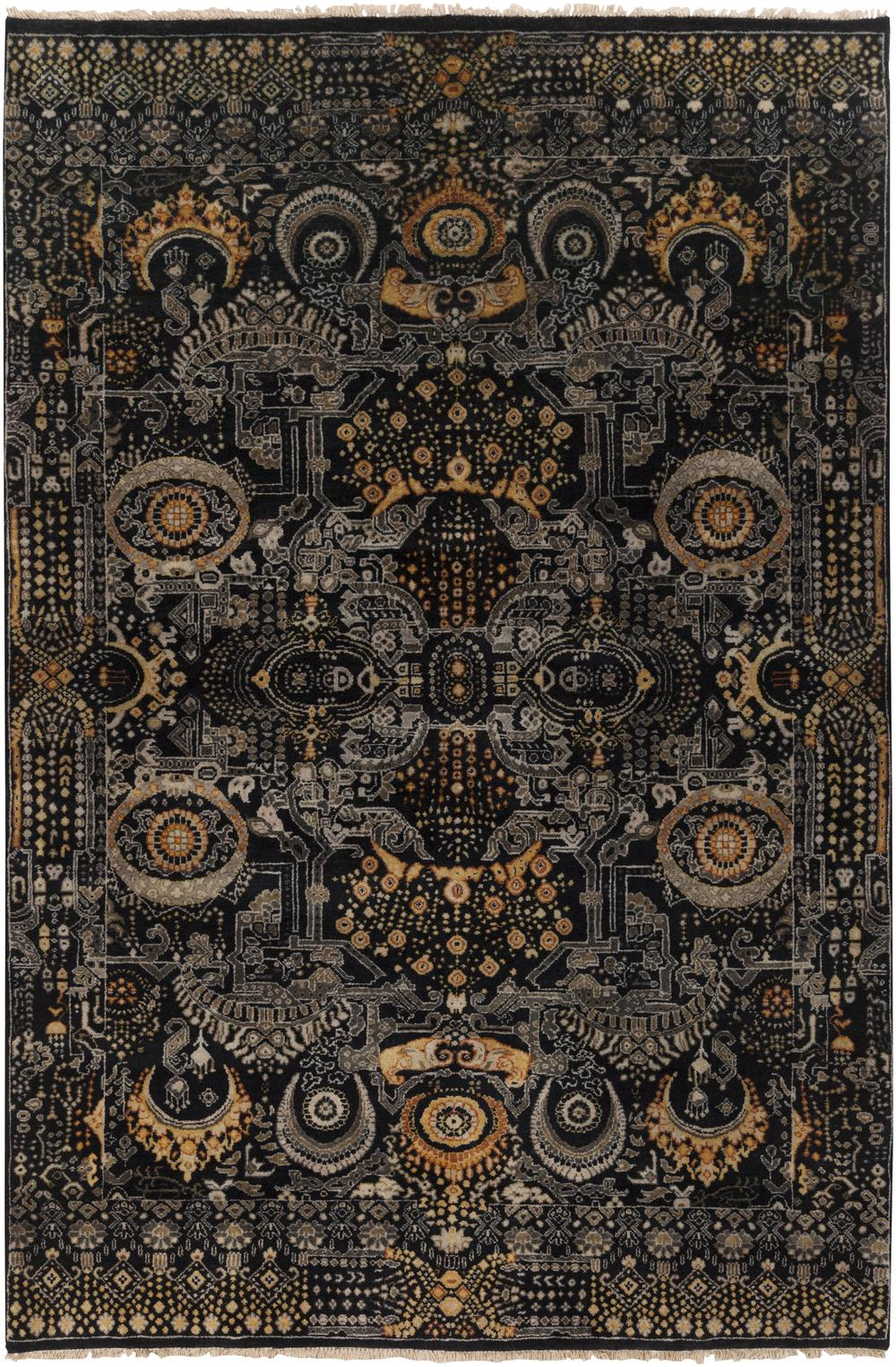 Surya Empress EMS7000 Black Area Rug  Free Shipping