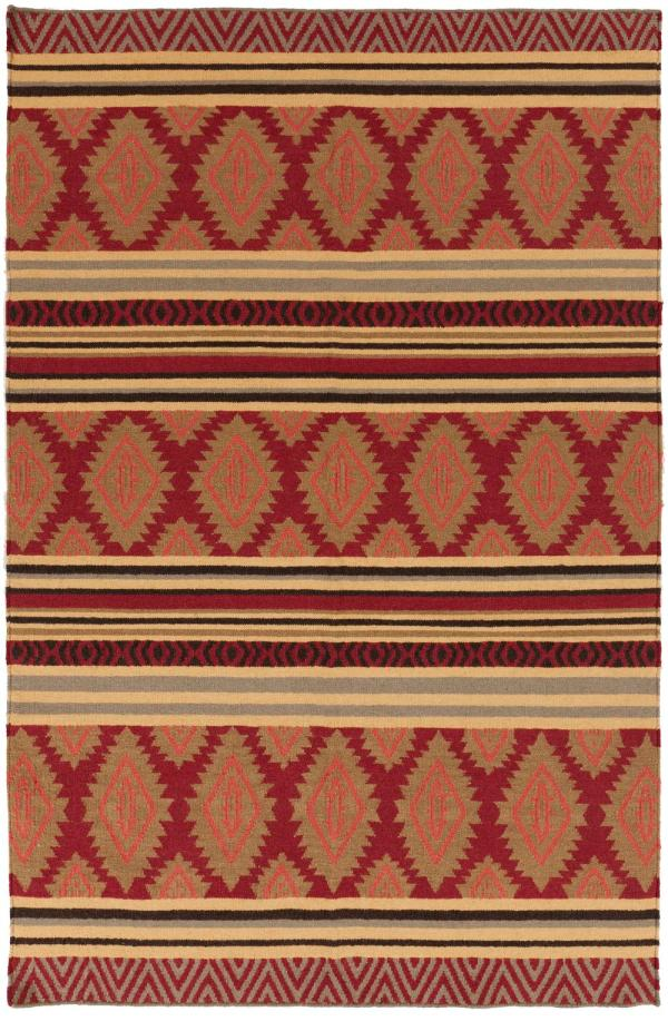 Surya Frontier Ft329 Red Area Rug Free Shipping