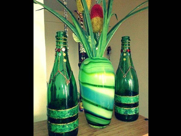 home living room paint ideas slipcover sets decorate wine/champagne bottles - boldsky.com