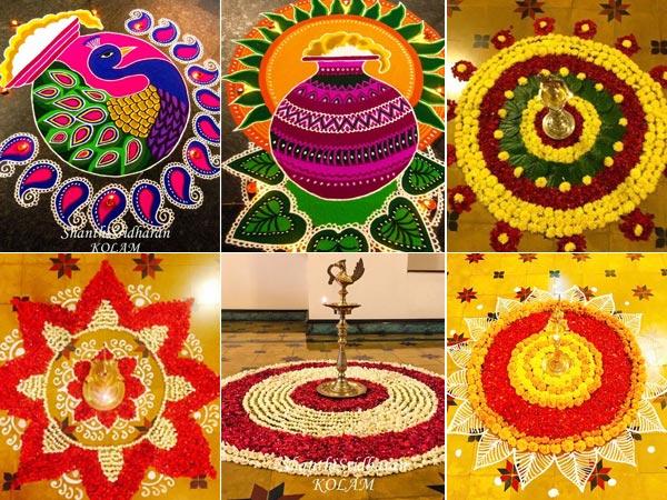 Onam Flower Carpet And Rangoli Design Ideas