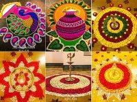 Onam Flower Carpet And Rangoli Design Ideas - Boldsky.com