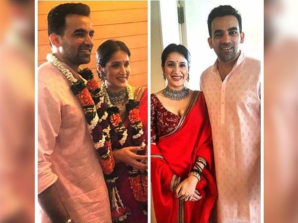 Sagarika Ghatge Wedding Saree