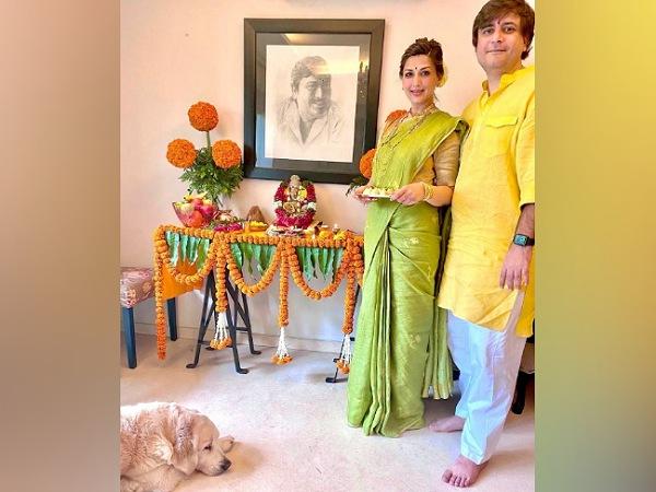 Sonali Bendre In A Pear-Green Saree