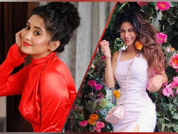Mouni Roy And Shivangi Joshi's Outfits