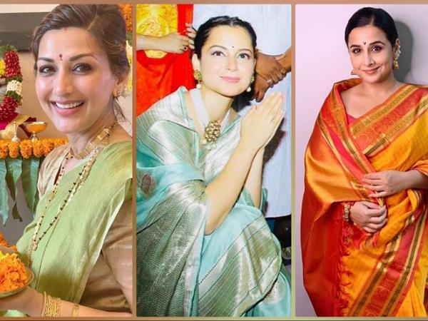 Divas In Saree For Ganpati Celebration