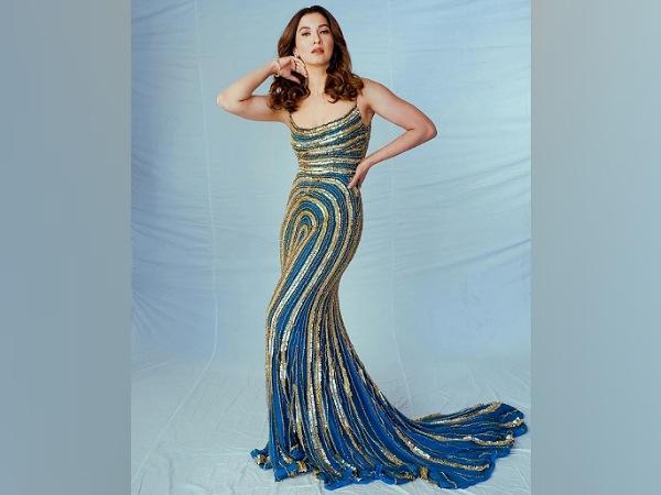 Gauahar Khan In A Blue And Golden Sequin Gown At Bigg Boss 14