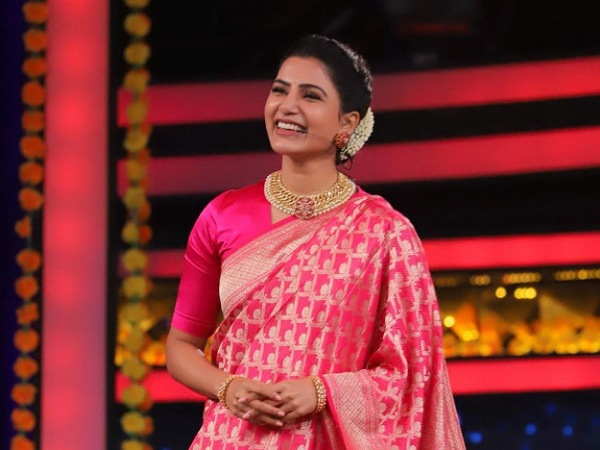 Samantha Akkineni's Fuchsia Pink Saree