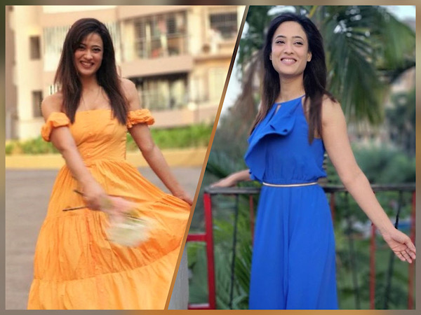 Shweta Tiwari In Blue And Yellow Dresses