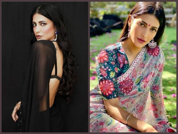 Shruti Haasan's Saree Looks On Her B'day