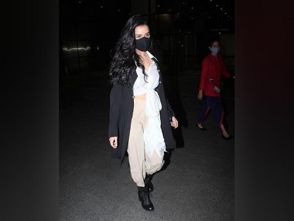 Shraddha Kapoor In A Black Overcoat