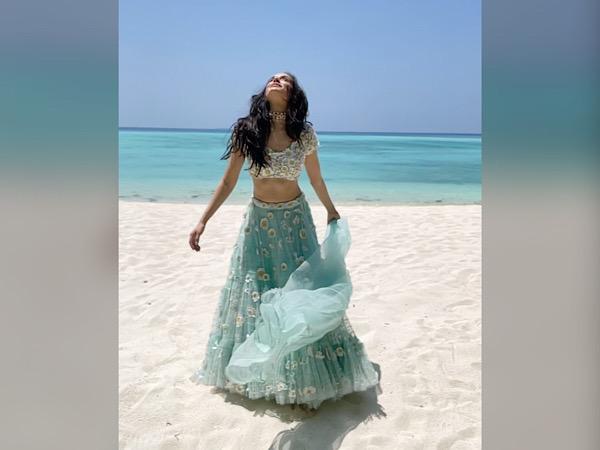 Shraddha Kapoor In A Sea Blue Lehenga