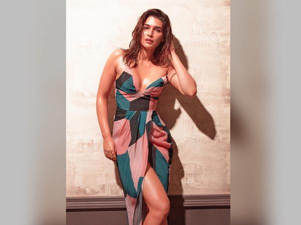 Kriti Sanon In A Tri-toned Patterned Dress