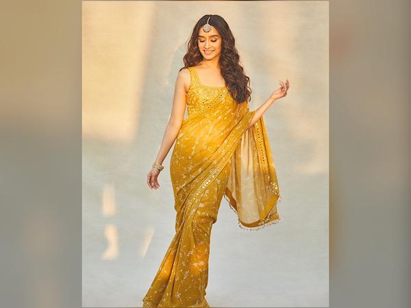 Shraddha Kapoor In A Dark Yellow Saree