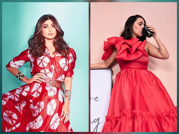 Shilpa Shetty And Neha Dhupia's Red Dress