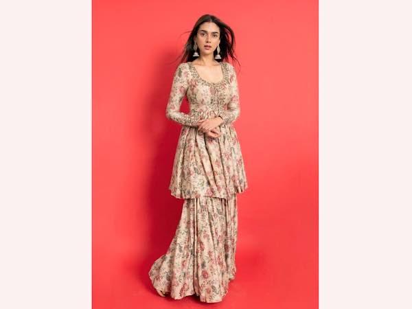 Aditi Rao Hydari In A Floral Sharara Set