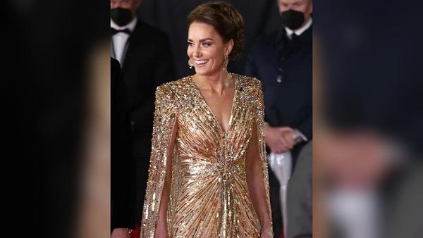 Kate Middleton's golden gown
