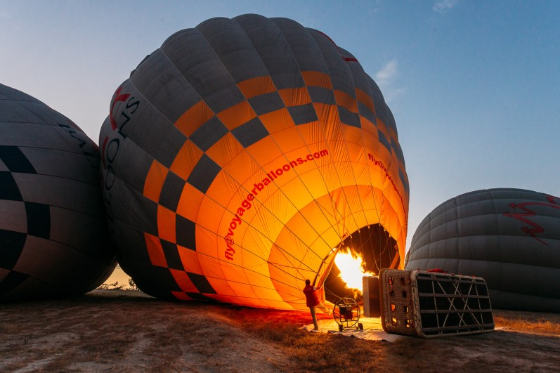 Voyager Balloons, Cappadocia hot air balloon flight at sunrise