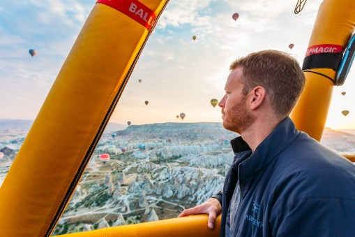 Loving the view from up here! Cappadocia hot air balloon flight