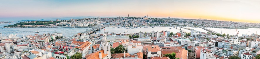Galata Tower View of Istanbul at Sunset